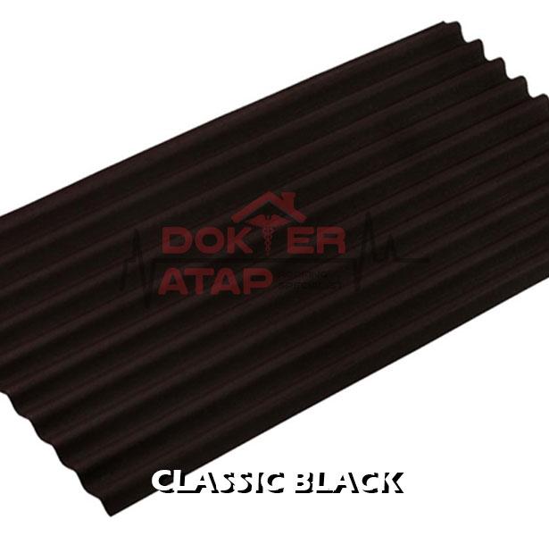 atap bitumen selulosa onduline classic black genteng aspal bergelombang hitam