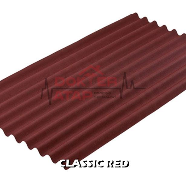 atap bitumen selulosa onduline classic red genteng aspal bergelombang merah