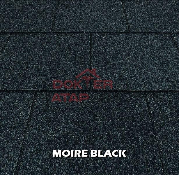 genteng aspal bitumen certainteed firescreen moire black