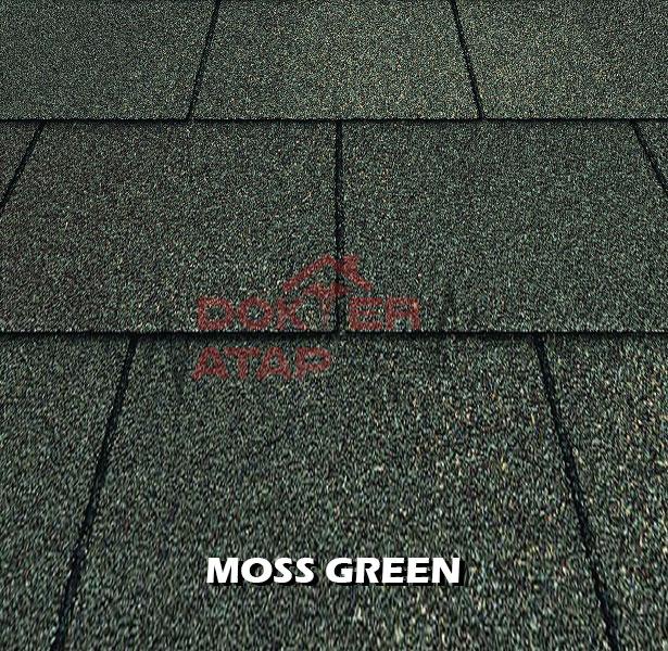genteng aspal bitumen certainteed firescreen moss green