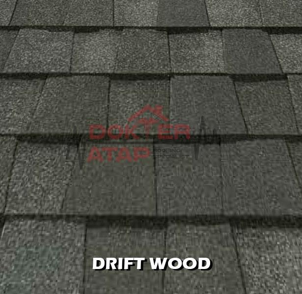 genteng aspal certainteed landmark atap bitumen drift wood