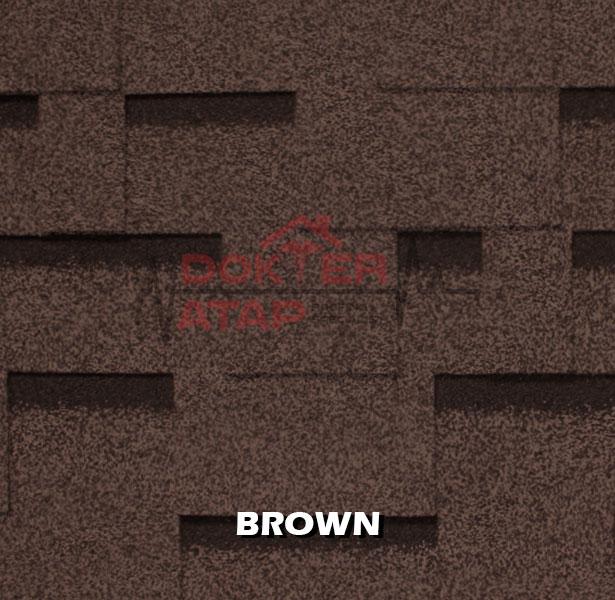 genteng aspal atap bitumen CTI CT5 murah brown