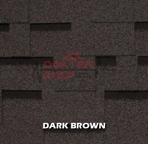 genteng aspal atap bitumen CTI CT5 murah dark brown