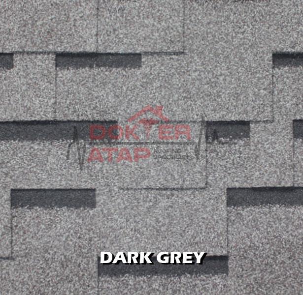 genteng aspal atap bitumen CTI CT5 murah dark grey