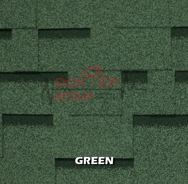genteng aspal atap bitumen CTI CT5 murah green