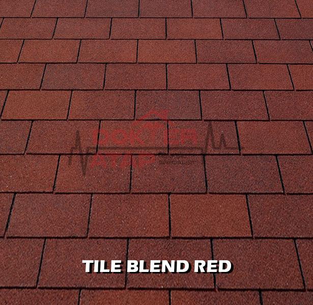 tamko elite glass seal, genteng aspal bitumen atap tamko tile blend red