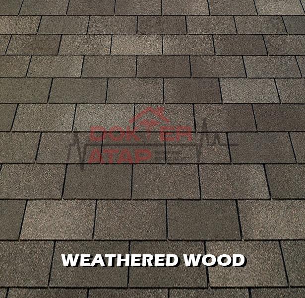 tamko elite glass seal, genteng aspal bitumen atap tamko weathered wood