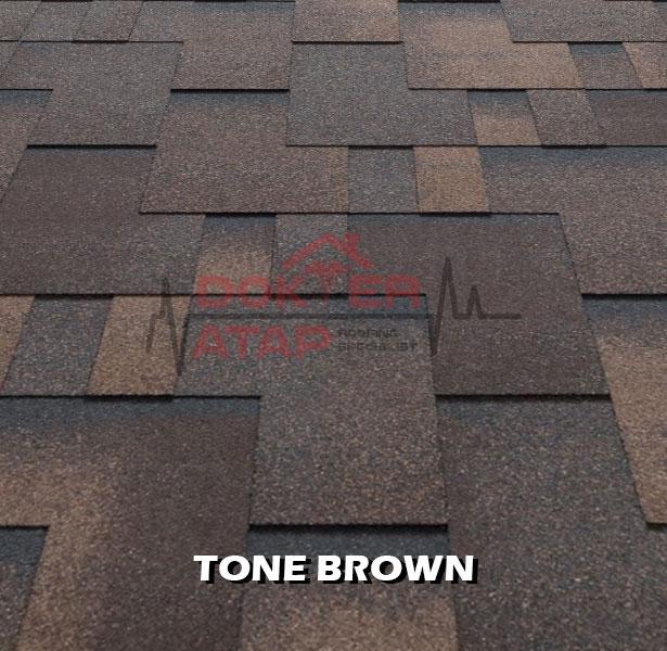 tegola premium gothik tone brown, genteng aspal bitumen atap tegola