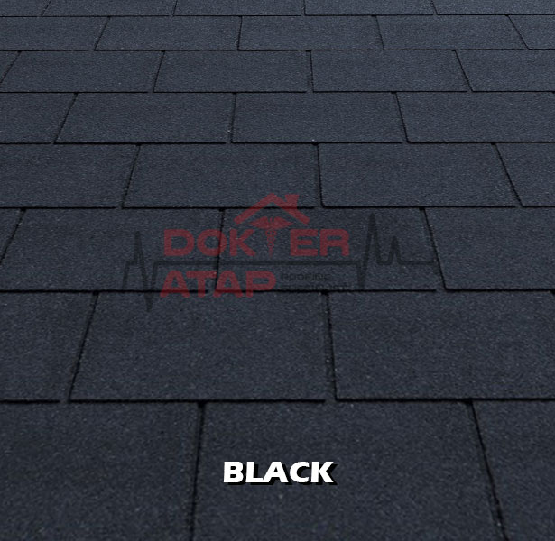 tegola premium rectangular black, genteng aspal bitumen atap tegola
