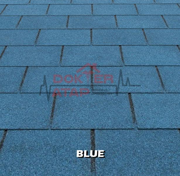 tegola premium rectangular blue, genteng aspal bitumen atap tegola