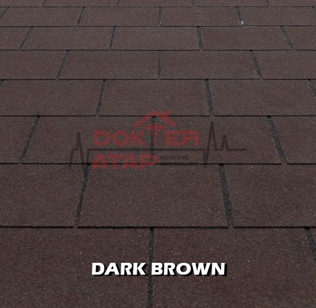 tegola premium rectangular dark brown, genteng aspal bitumen atap tegola