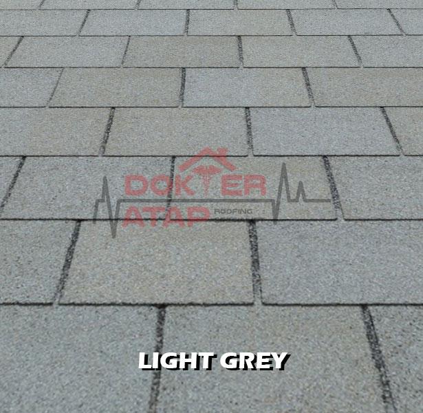 tegola premium rectangular light grey, genteng aspal bitumen atap tegola