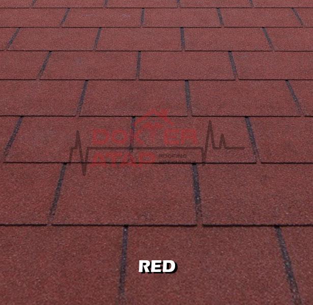 tegola premium rectangular red, genteng aspal bitumen atap tegola