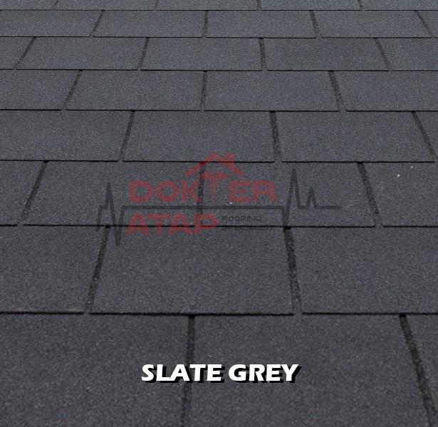 tegola premium rectangular slate grey, genteng aspal bitumen atap tegola