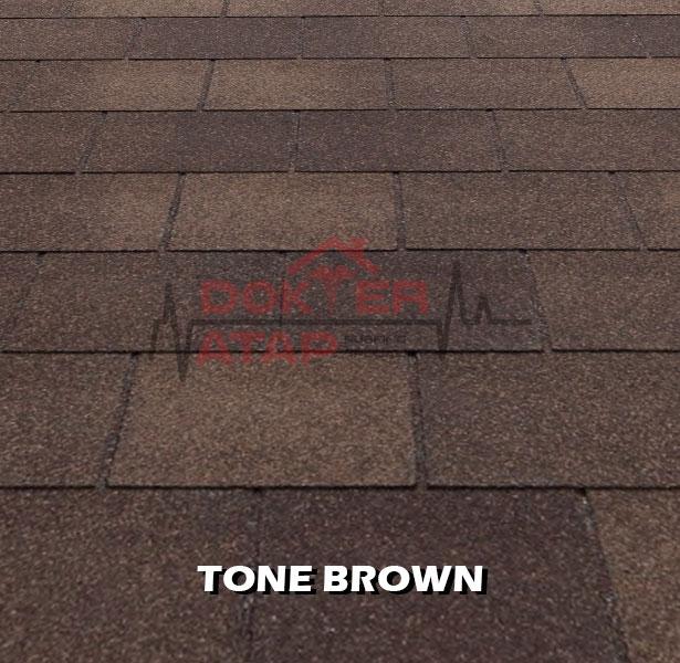 tegola premium rectangular tone brown, genteng aspal bitumen atap tegola