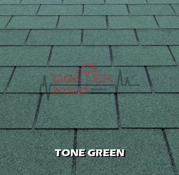 tegola premium rectangular tone green, genteng aspal bitumen atap tegola