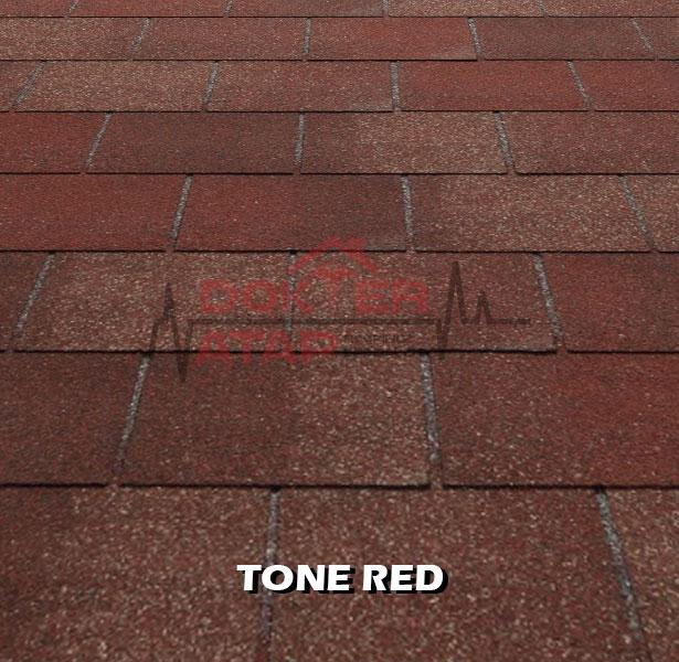 tegola premium rectangular tone red, genteng aspal bitumen atap tegola